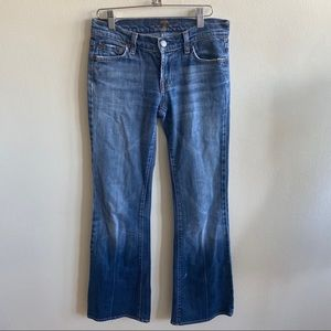 7 For All Mankind Distressed Blue Jeans Sz 25